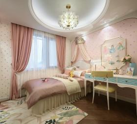 粉红清新可爱女儿房设计