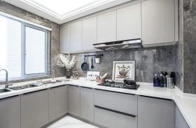 简约欧式环绕型厨房设计