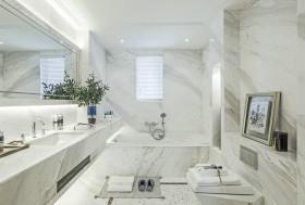 简约洁白清晰卫生间设计