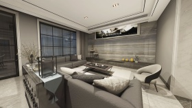 现代高级灰客厅设计