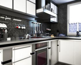 黑色马赛克厨房设计