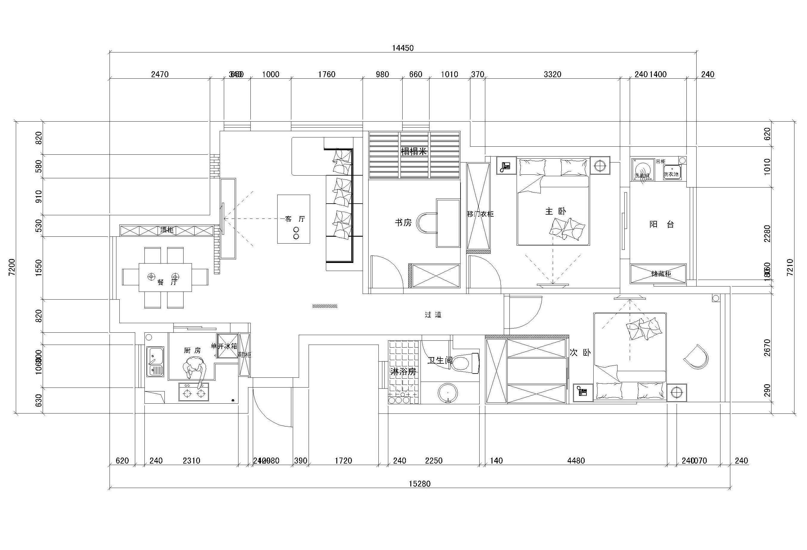 8×12套房设计图