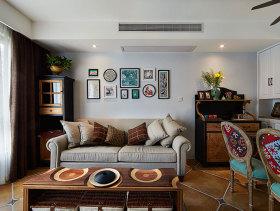 美式简约田园两室一厅装修案例