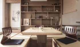 日式原木古典榻榻米收纳设计