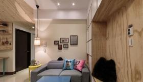 简约原木客厅装饰设计