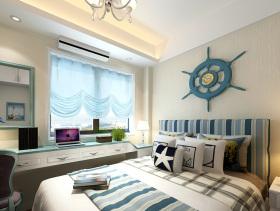 地中海海洋色系卧室装饰设计