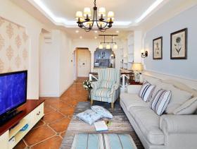 美式小清新客厅装修效果图
