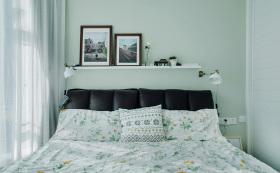 现代美式清新碎花卧室装修设计