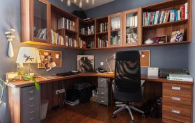 简约典雅直角书房装修设计
