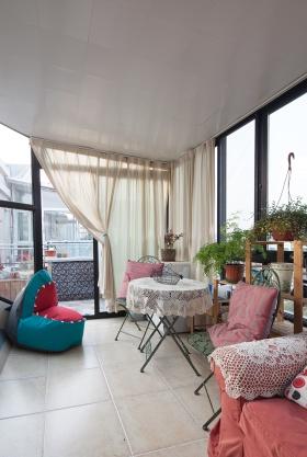 开放式环形雅致美式阳台设计