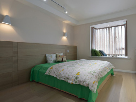 极简风格清新卧室设计