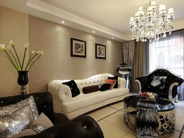 黑白色的主调,整体布置中低调中透露着小奢华。