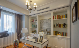美式简约经典书房装饰设计