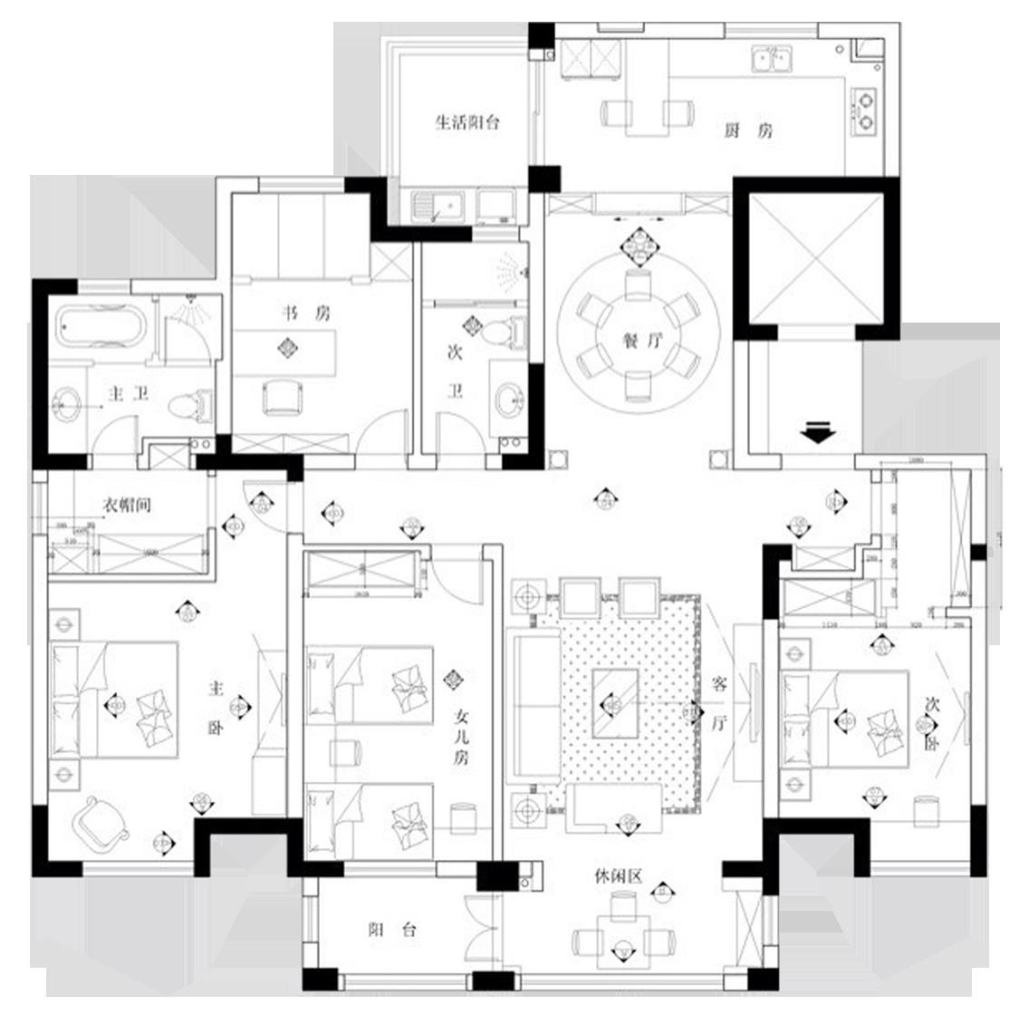 三室两厅欧式全包18万