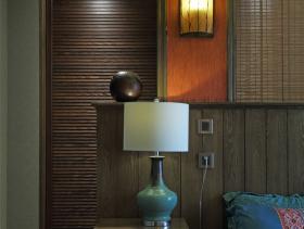 新中式古典蓝床头柜设计
