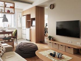 原木风小居室设计