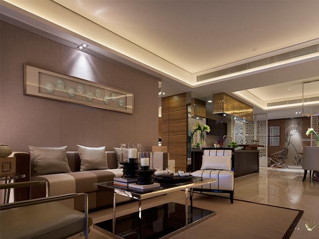 客厅以儒雅的灰色调为主,线条简约平整、毫不做作,任时光慢转、世事喧哗,它只静默。