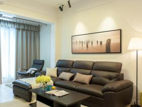 复古经典黑色沙发客厅设计