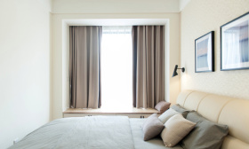 简约现代温暖卧室设计