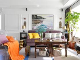美式色彩碰撞系列客厅设计