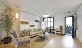 简约中式原木客厅装饰设计