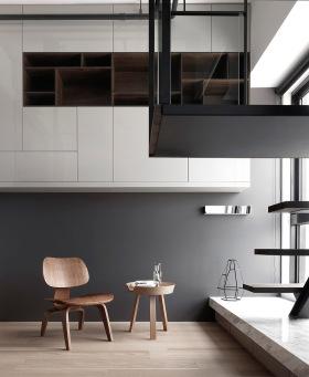 黑白设计风整木家居装饰设计