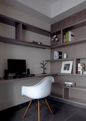 简单干净现代书房设计