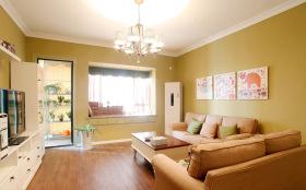 田园清新自由温暖客厅设计