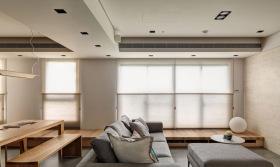 宁静淡雅日系风客厅设计