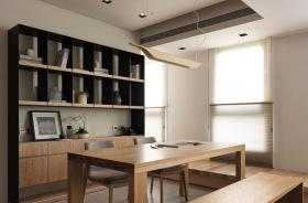 温暖原木风日系餐厅设计