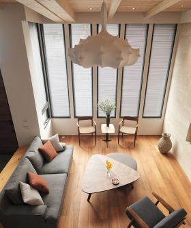 北欧日系混搭客厅设计