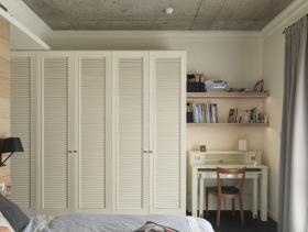 小清新雅致卧室书房衣柜设计
