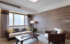 简约实木客厅装修效果图