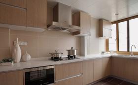 简约原木风L型厨房设计