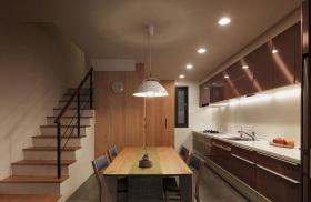 日式和风开放式厨房餐厅设计