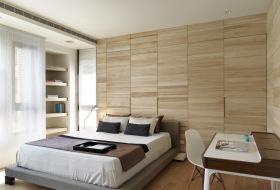 现代极简原木风卧室设计