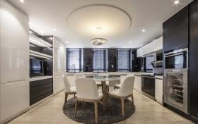 简约现代开放式餐厅厨房设计