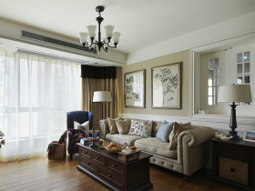 复古美式客厅设计