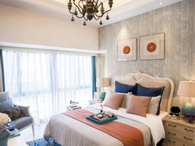 现代简欧精细化温暖女生房设计