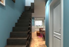 简约马卡龙色家装楼梯设计
