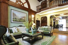 美式经典简约客厅设计