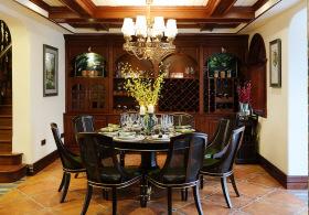 美式复古轻奢餐厅设计