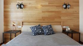 简约原木精致化床头设计