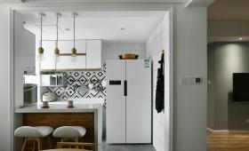 北欧半开放式吧台厨房设计