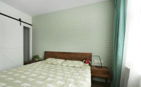 薄荷清新精致小卧室设计