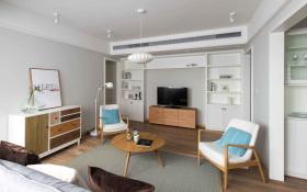 简约宜家原木风开放式客厅设计