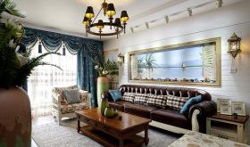 美式复古经典碎花客厅装修设计