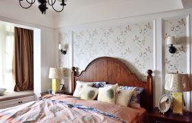 美式碎花田园小清新卧室设计