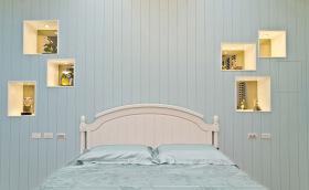 简约清新蓝色卧室设计