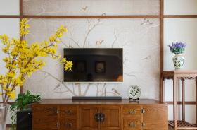 简约田园美式背景墙装修设计